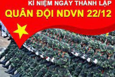 KẾ HOẠCH  Tổ chức hoạt động kỷ niệm 76 năm ngày thành lập Quân đội nhân dân Việt Nam (22/12/1944 – 22/12/2020)